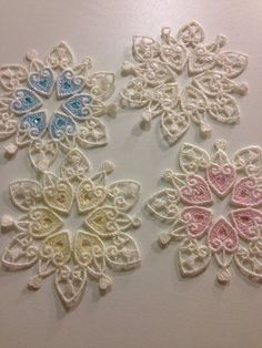 Embroidery It - Snowflakes for Sandy Hook Elementrary in Newtown, CT, done as Free Standing Lace