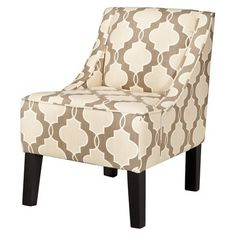 $159.99. Hudson Upholstered Accent Chair - Luca Geometric Stone