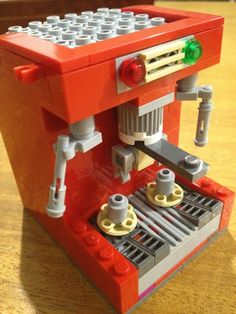 Rate this from 1 to Espresso Machine Espresso Field Guide - A Visual Reference For Ingredient Ratios New Coffee and Espresso Machines and Espresso Machine, Lego Mini, Lego Words, Van Lego, Lego Furniture, Lego Club, Lego For Kids, Lego House, Lego Projects