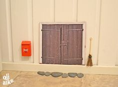 #tonttuovi Printattu oven kuva aaltopahville 17x 13cm tms
