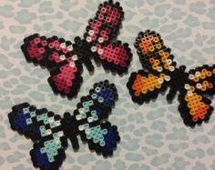 Perler Butterfly hair clips