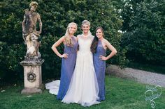 Blue bridesmaids dress   wedding in italy: A romantic wedding ceremony on the italian lakes