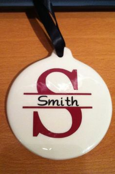 Monogram Christmas Ornament. $6.00, via Etsy.