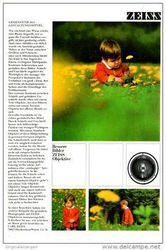 Original-Werbung/ Anzeige 1960 er Jahre : 1/1 SEITE - CARL ZEISS - OBERKOCHEN - ca. 160 x 230 mm