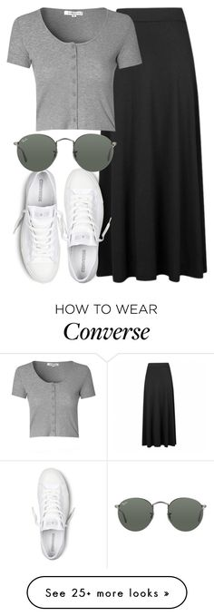 """perrie insp"" by littlemixmakeup on Polyvore featuring Ally Fashion, Glamorous, Converse and Ray-Ban"