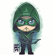 Chibi Green Arrow (Dc TV universe) by Lord Mesa Chibi Characters, Comic Book Characters, Marvel Dc, Baby Marvel, Chibi Marvel, Chibi Superhero, Lord Mesa Art, Arrow Tv Series, Dc Comics