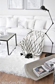 Black And White Interior | ShareLookHomes Interior, Lifestyle, Ideas And  More: **. Skandinavische TeppicheTeppich SkandinavischGraphische ...