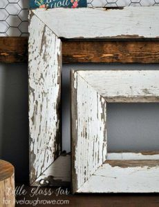 Best DIY Picture Frames and Photo Frame Ideas - Farmhouse Frames - How To Make Cool Handmade Projects from Wood, Canvas, Instagram Photos. Creative Birthday Gifts, Fun Crafts for Friends and Wall Art Tutorials http://diyprojectsforteens.com/diy-picture-frames