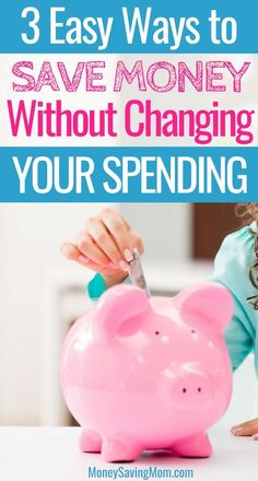 Save money without even changing your spending habits! These are GREAT ideas!  #moneysaving #savingmoney #budget #debtfree