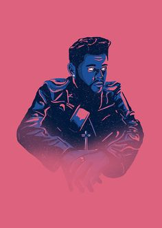 The Weeknd - Starboy album Portrait Illustrations of my favourite musicians
