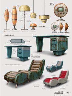 The Art of Fallout 4 - /// Vault 13 — ЖЖ Fallout Art, Fallout Concept Art, Fallout Posters, Bg Design, Prop Design, Game Design, Carros Vw, Arte Cyberpunk, Fall Out 4