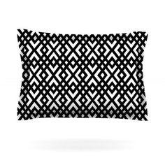 KESS InHouse Dijagonala by Trebam Featherweight Pillow Sham Size: Queen, Fabric: Cotton