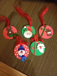 Adornos navideños goma Eva