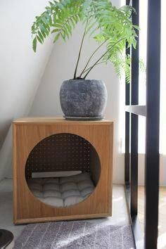 de mejor calidad - Muebles de mejor calidad -Muebles de mejor calidad - Muebles de mejor calidad - 20 Modern Indoor Dog Houses For Small Dogs Furniture, Cat Litter Box Furniture, Interior, Home, Cat Furniture