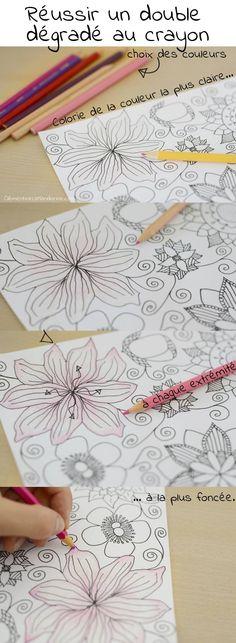 Colorier de jolis dégradés au crayon de couleur