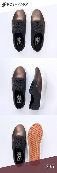 New Bronze Metallic and Black Authentic Never been worn, black canvas side panels and bronze Metallic toe cap. W/O box. Women's size 7 / Men's size 5.5 Vans Shoes Sneakers