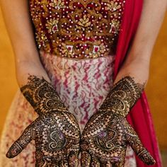 bridal henna | Coral & White Wine Country Indian Wedding {The Meritage Resort Hotel, CA} - Gallery