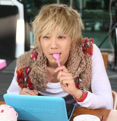 Jeremy from the K-Drama You're Beautiful (played by Lee Hong Ki) His is a great big adorable ball of energy, fun loving, he personalty just adds to how cute he is. Oh my goodness he is adorable! I wish Hong Ki had kept the blonde hair, it was a great look on him. JEREEMYYYYY♥