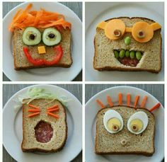 fun lunch ideas for kids to make \ fun lunch ideas for kids . fun lunch ideas for kids at home . fun lunch ideas for kids to make . fun lunch ideas for kids school . fun lunch ideas for kids picky eaters . fun lunch ideas for kids easy Sandwiches For Lunch, Healthy Sandwiches, Sandwich Ideas, Cute Food, Good Food, Funny Food, Food Art For Kids, Food Kids, Food Humor