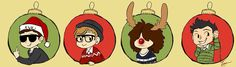 Fall out boy Christmas! I love that Joe is the reindeer haha, it suits him :p