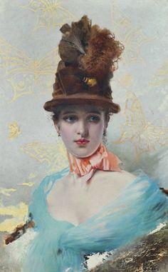 Art Vittorio Matteo Cor Cos | Vittorio Matteo Corcos (1859 - 1933) - Une Élegante