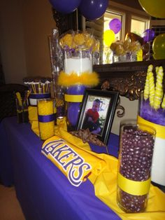 Lakers Candy Bar For My Sons Seventh Birthday Party :)