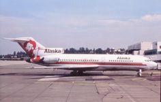 Alaska Airlines, Boeing 727-21 (N314AS) at Seattle (KSEA) August 1976