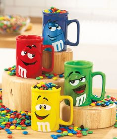 3 friends,round table, coffee, big bowl of M&M's in the middle...perfect get-together!