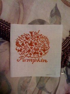 Love Pumpkin Cross Stitches!