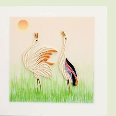 "The girls at the New Life Center have created another very nice card! Both birds are fully made using colorful quilling paper. These cards are so impressive and have a ""wow"" factor that they will beco More"
