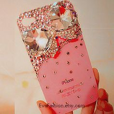 iphone 5 case, samsung s3 s4 case, galaxy s4 cover, bling bow Crystal iphone 4 case, back cover 4s case, Pearl iphone 5 cover,iphone cases