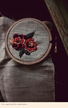 embroidery - for The Makers pattern