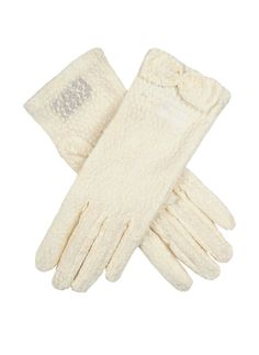 Ivory women's pastel lace gloves with a lace bow detail. Composition: Nylon Lining: Unlined Button Length B/L – These gloves extend approximately inches above the wrist. Lace Gloves, White Gloves, Leather Gloves, Lace Bows, Occasion Wear, Dress Up, Pastel, Feminine, Velvet