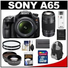 Sony Alpha SLT-A65 Translucent Mirror Technology Digital SLR Camera Body & 18-55mm Lens with 75-300mm Zoom Lens + 32GB Card + Battery + Filter + Backpack + Telephoto & Wide-Angle Lens + Accessory Kit - http://www.digitalcameraoptics.com/sony-alpha-slt-a65-translucent-mirror-technology-digital-slr-camera-body-18-55mm-lens-with-75-300mm-zoom-lens-32gb-card-battery-filter-backpack-telephoto-wide-angle-lens-accessory-kit/
