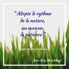 Positive Attitude, Positive Vibes, Positive Quotes, Emerson, Patience, French Quotes, Best Inspirational Quotes, Nature Quotes, Meaningful Quotes