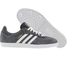 Adidas Samba (medium lead / white / metal gold) G42691 - $59.99 Adidas Samba, Best Sneakers, Shoes Sneakers, Samba Shoes, Adidas Runners, Sneaker Games, Adidas Shoes, Adidas Originals, Casual Shoes