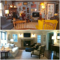 Lets sat WOW Before and After: Country Clutter to Country Chic