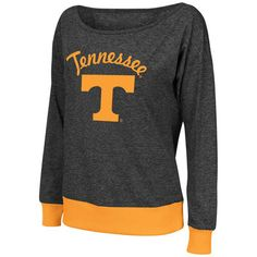 Tennessee Volunteers Colosseum Women's Bikram Banded Bottom Sweater - Charcoal