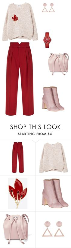 """""""Casual"""" by anna-cherepanina on Polyvore featuring мода, RED Valentino, MANGO, Yves Saint Laurent, Laurence Dacade, Michael Kors и Michele"""