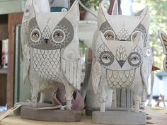 Not sure what these are made from, but I love these hootie owls!