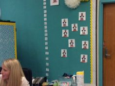 JiJi bulletin board for ST Math at Piedmont Elementary in Chas., WV