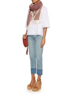 Clemence fringed-trim scarf | Isabel Marant Étoile | MATCHESFASHION.COM UK