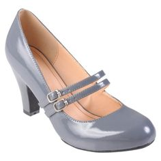I could just buy these! done! maybe add some cute embellishment over the buckles (flower/brooch)...Womens' Hailey Jeans Co  Mary Jane Patent Leather Pumps $30