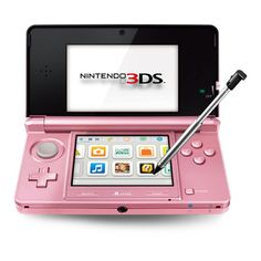 Nintendo 3Ds in pearl pink - just in time for Valentine's day