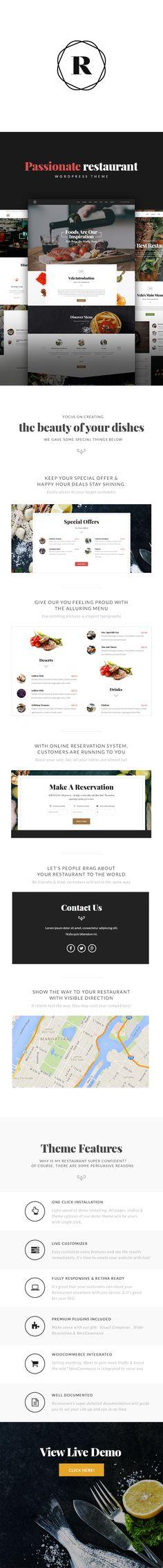 Restaurant, Cafe, Bar WordPress Theme - Restaurant