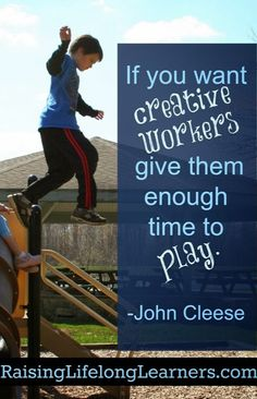 Play is the best type of learning via www.RaisingLifelongLearners.com