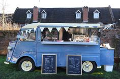 The Teabirds Coffe Van, a 1975 Citroen H Van restored and fitted with a coffee machine for mobile catering.