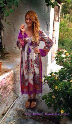 Nur charm romantik elbise, güzel köylü dizisi Gizem Karaca