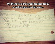 Forging Mom's Letter
