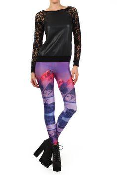 Purple Mountain Leggings | POPRAGEOUS